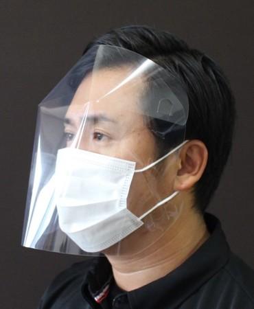 マスク着用時 マスクとシールドの2重構造で飛沫をガード