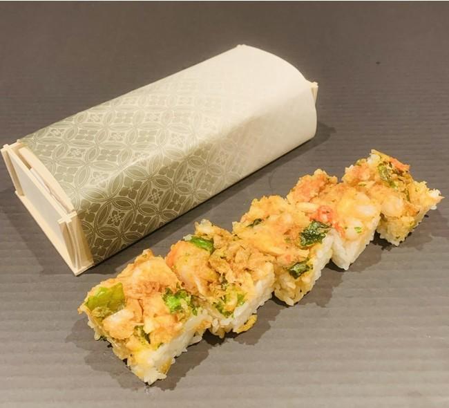 「白えびかきあげ押し寿司」