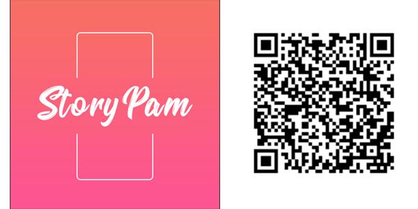StoryPamアイコンとQRコード