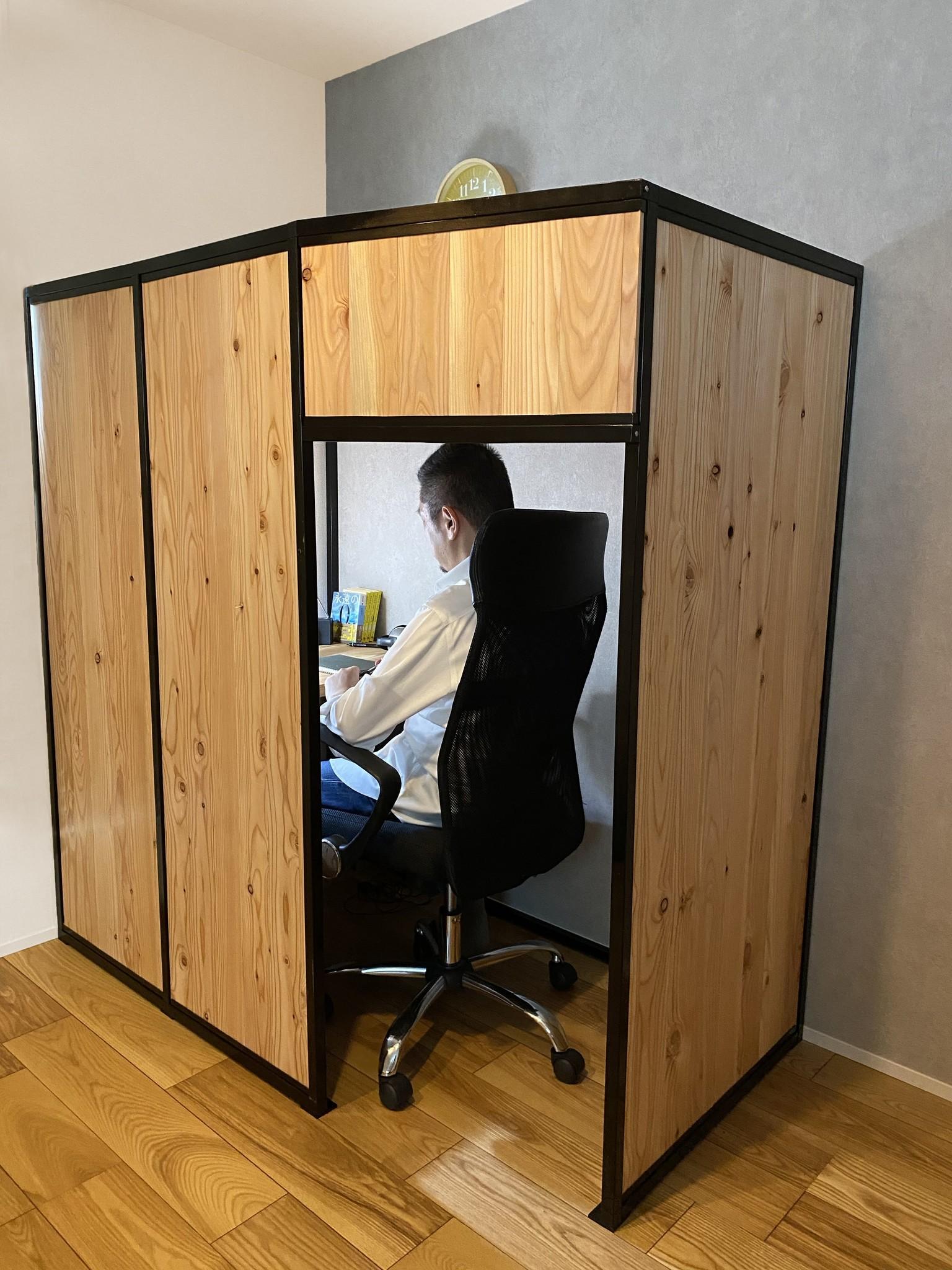 Withコロナ時代のテレワークに、集中できる空間を。自宅リビングにも設置できる組立式小部屋「Room+(ルームプラス)」を発売