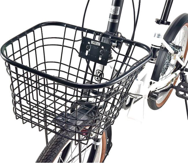 買い物に便利な丸型ワイヤーバスケット