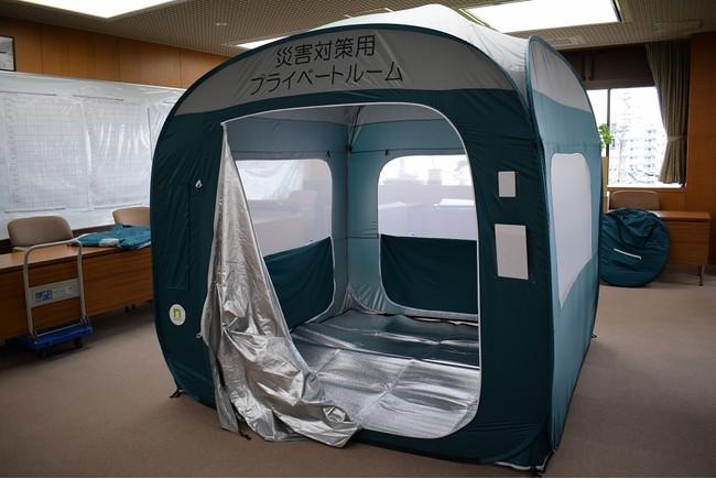 飛沫感染防止用テント  提供:流山市