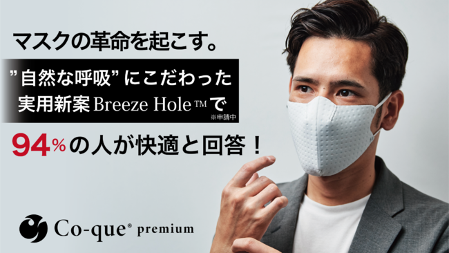 Co-que premium 94%の人が快適と回答!