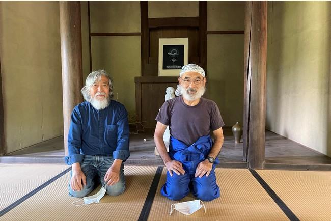 細井陶游さん(左)と土屋誠一さん(右)