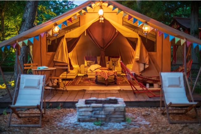 1日1組限定のフランス製グランピングテント宿泊