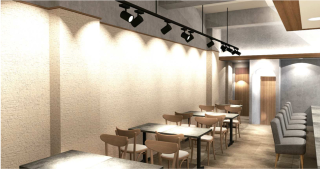 和栗スイーツカフェ「和栗菓子 kiito -生糸-」の店舗イメージ(店内)