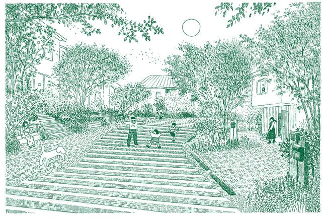 住宅エリア「みんなの庭」