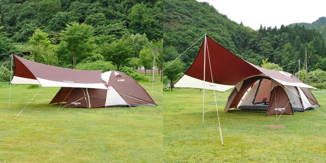 エクスギア ツールームドーム270 ファミリーキャンプ おすすめパッケージ