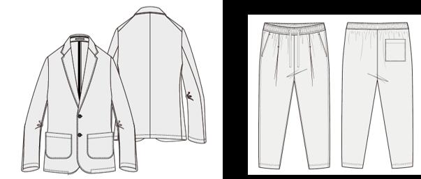 メッシュ素材で軽くて動きやすいジャケットセット(2021年6月より展開予定)