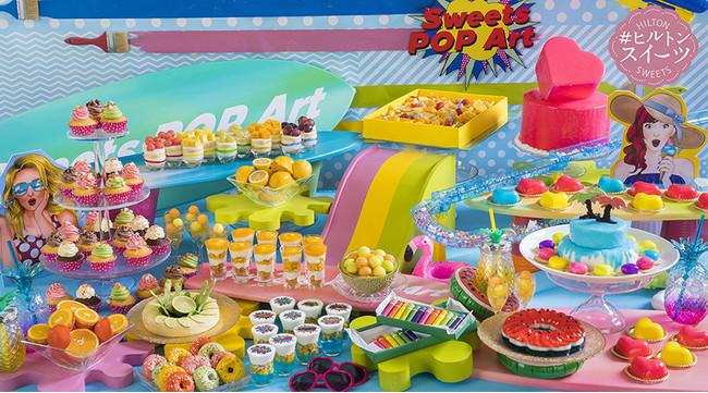 ヒルトン・スイーツビュッフェ SWEETS POP ARTイメージ