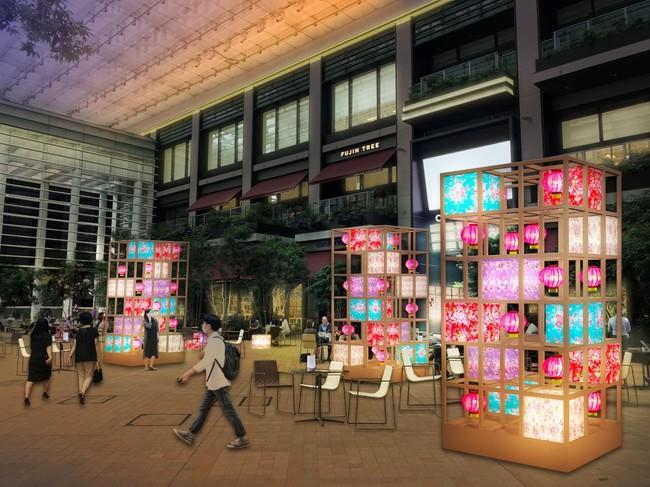 「COREDO室町テラス 大屋根広場」ライトアップ装飾CG