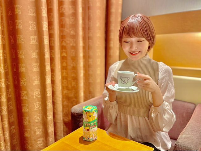 可愛いお部屋でコーヒーと一緒にいただきます♪