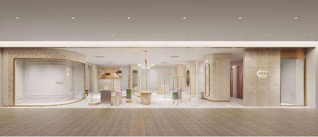 2021年9月9日にリニューアルオープンしたeimy istoires新宿ルミネエスト店新内装