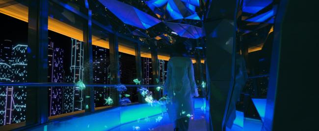 <まるで空中水族館のような未来の東京タワーでデートを楽しもう!>