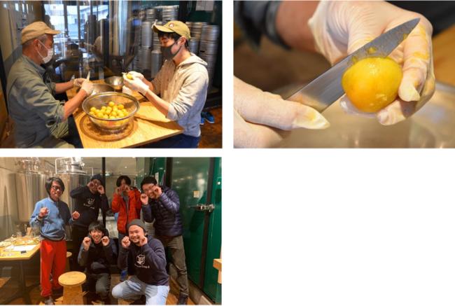 製造の様子。日本一周中、遠野醸造を訪問