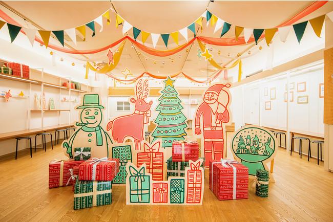 八王子オクトーレ4階クリスマスデコレーション