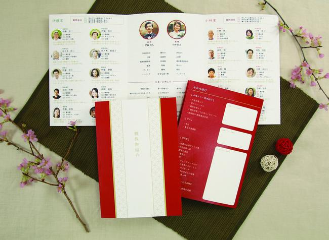 ゲスト紹介やタイムスケジュールが入れられるファミリーブック