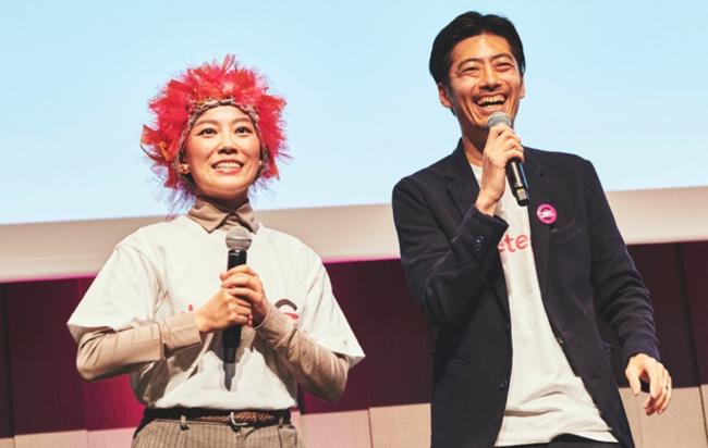 (左)創業理事中島ナオ (右)代表理事小国士朗