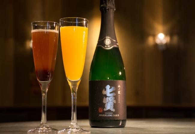 「日本酒スパークリングカクテル」イメージ