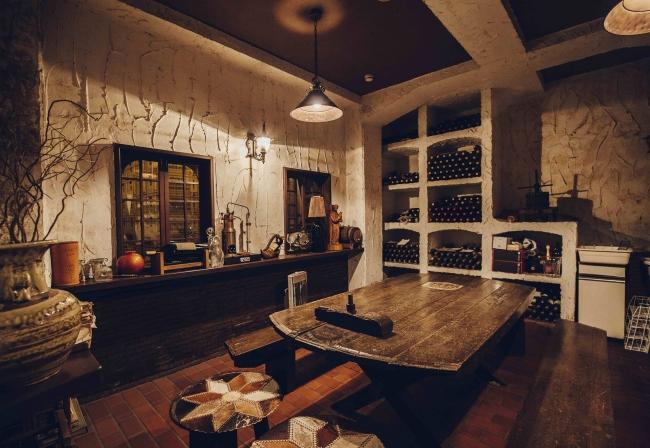 丸藤葡萄酒工業 試飲室