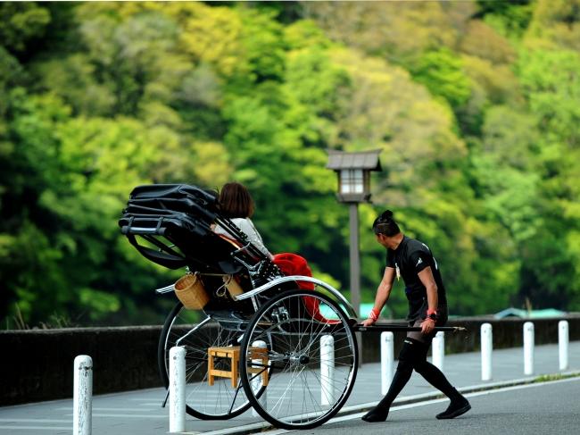人力車による嵐山ツアーイメージ