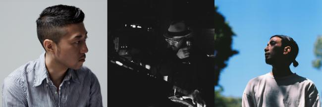 (写真左) DJ HASEBE (写真中) MACKA-CHIN (写真右) EITA