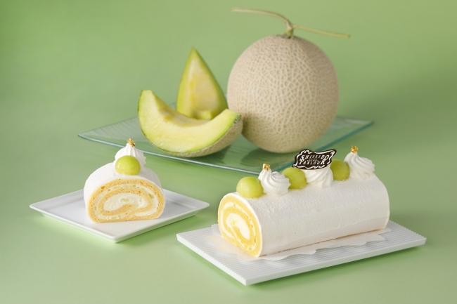1周年記念スイーツ クラウンメロンのロールケーキ