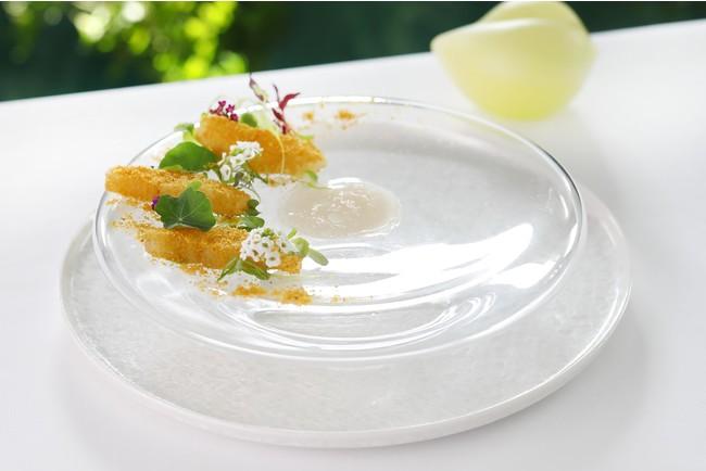 鮮魚とカラスミのカルパッチョ
