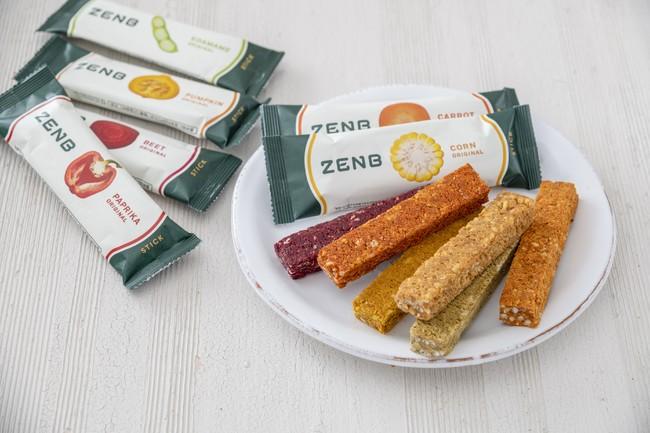 「ZENB STICK」全7種類(コーン、ビーツ、パプリカ、パンプキン、キャロット、ゴボウ、枝豆)