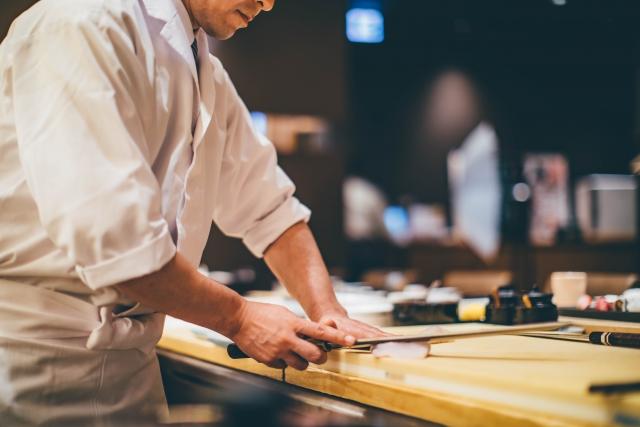 <寿司職人を派遣してお寿司もご堪能いただけます。※イメージ>