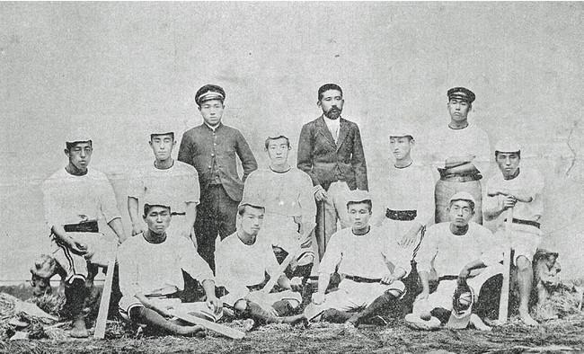 1896年頃の一高野球部