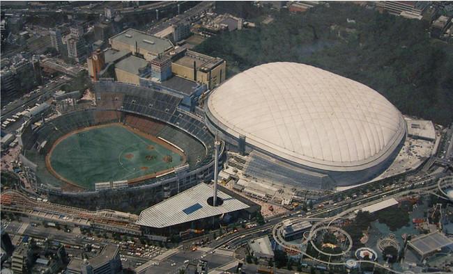 1987年の後楽園スタジアムと東京ドーム