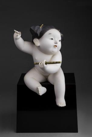 野口 光彦 『 童心 戯笛 』 1956 当館蔵