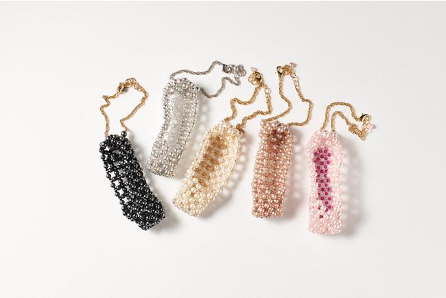 Mini Pearl Toe Shoes チャーム(White/Silver/Pink/Beige/Black 全5色)各11,000円(税込)