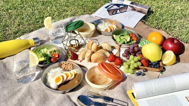 非常食の手軽さは、ピクニックにもぴったり! ※「ごちそうセット」を使用
