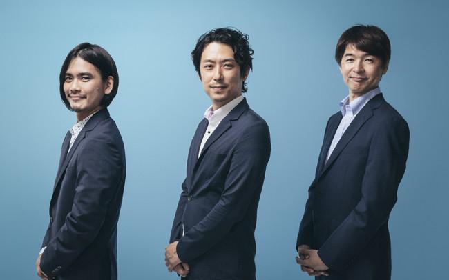 左:立石 従寛、中央:笠井 一希、右:落合 康