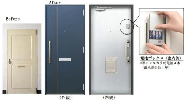 スマートドア電気錠は当たり前の時代に 集合住宅用 玄関ドアに