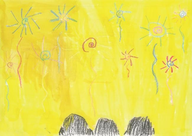 「きれいな花火」、茨城県8歳