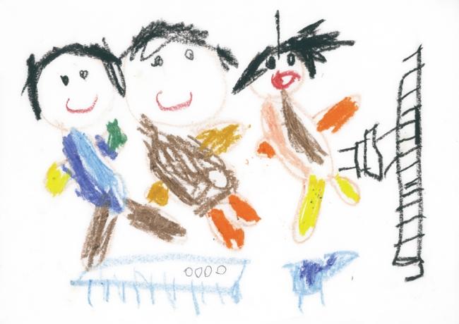 「おともだちとあそんだよ」、鹿児島県5歳