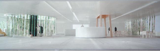 展示ブースが設置される中庭の設計イメージ