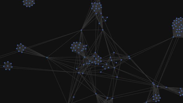 図2:論文共著者情報から研究者のネットワークを可視化。各研究者がファーストオーサー、ラストオーサーなどの どの立場での参画が多いかも確認できる