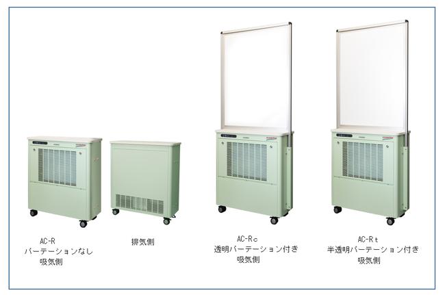 ■パーテーション機能付き空気清浄機「エアロゾルキャッチャー製品画像」