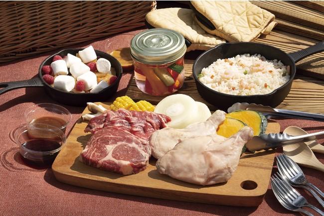 手ぶらでBBQプラン スタンダードコース: 牛ステーキ、カルビ、チキンレッグを中心にピラフ、ホットデザー