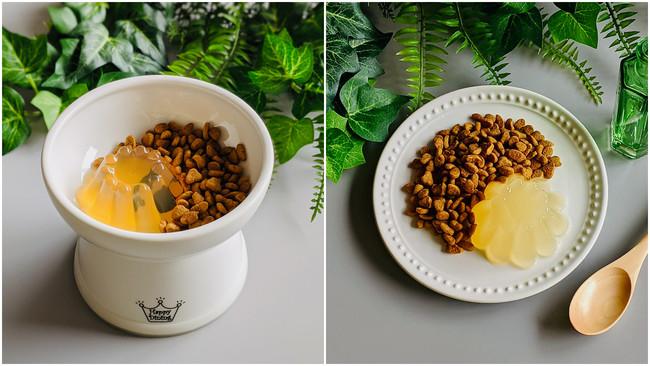手作りゼリーの素「ジュレッタ」新商品「かつお」「たい」の調理イメージ
