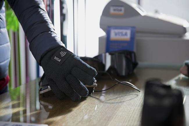 Visa Lotte Card Wearable Gloves
