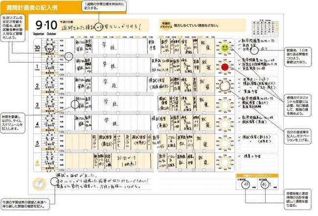 受験手帳sumateは、大学入学後 ... : 週間スケジュール帳 : すべての講義