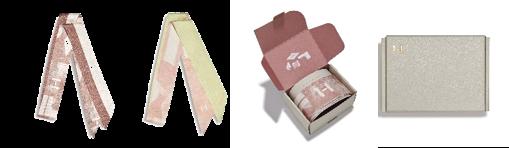 ムードインハンシングスカーフ (左からセピア/パステル)