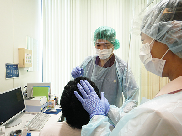 日本赤十字社で使用されている様子