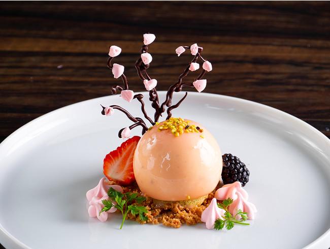桜の木を見立ててお皿の上でお花見を