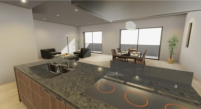 「VRモデルルーム・ライト」の画面イメージ(家具はオプション)